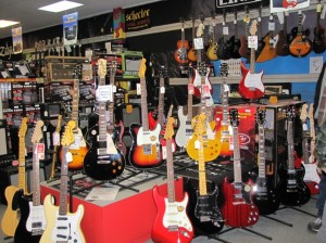 Huges selection of electric guitars