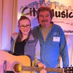 Marc Rines with Fender FA100Winner Gianna DeLisle