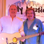 Fender CD60CE WinnerGreg Schmidt with store owner Marc Rines