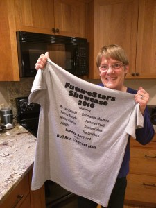 New this year: each participant received a commemorative t-shirt