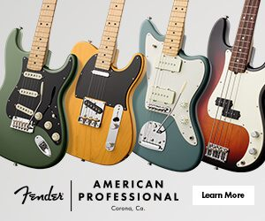 We've got the new American Professional Strat in stock